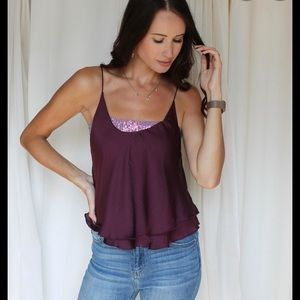 Freepeople cami small NWT. Sequin lining removed.